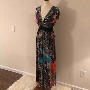 IB Diffusion Animal Print Maxi Dress for sale